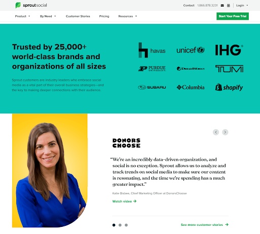 SproutSocial Landing Page